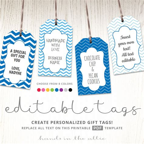 tags for gift bags template editable gift tags gift tag template text editable