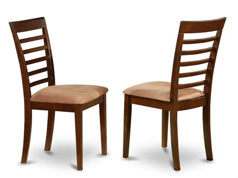 set of 6 milan dinette kitchen dining chairs w microfiber