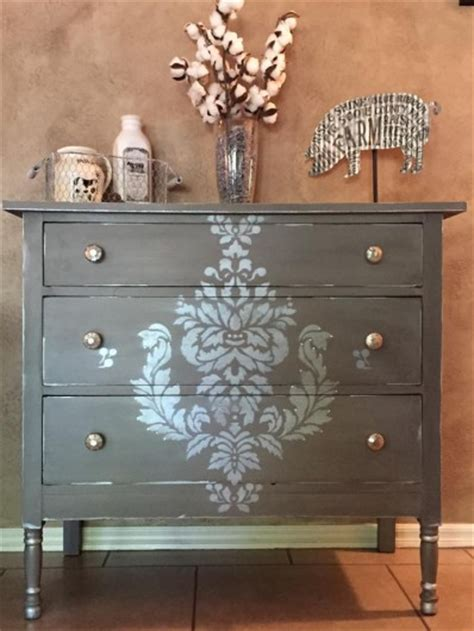 Stencil Dresser by Improve Your Home With Stencil Projects 171 Stencil Stories