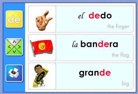 palabra pattern en espanol las s 237 labas da de di do du syllables www