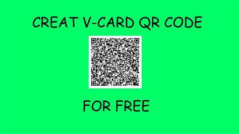 how to create qr code v card qr code
