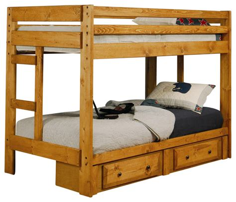 wrangle hill twin  twin bunk bed  coaster fine furniture contemporary beds
