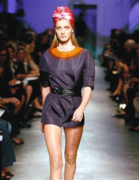 Topshops Prada Esque Turban Hits The High by Top Five Iconic Looks Prada Fashion Statement