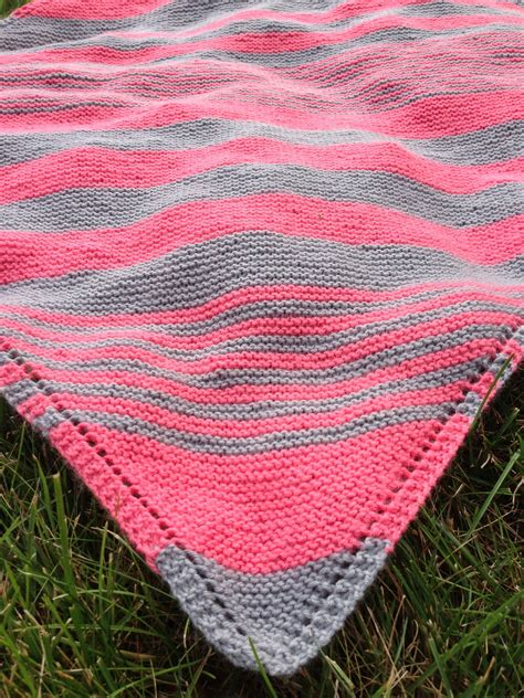 what is yarn forward in knitting striped baby blanket knitting knit blankets
