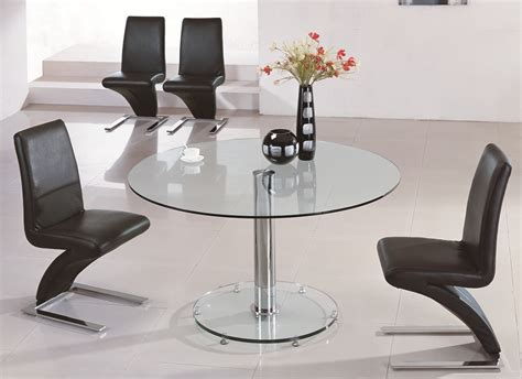 Circular Glass Dining Table And Chairs Large Glass Dining Table Best Dining Table Ideas