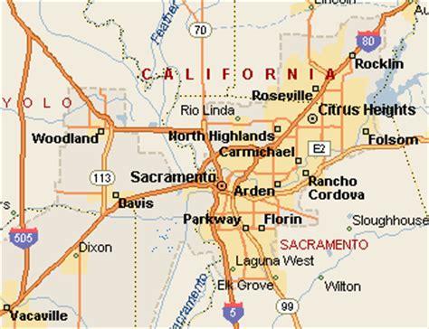 california map where is sacramento map of sacramento california california map