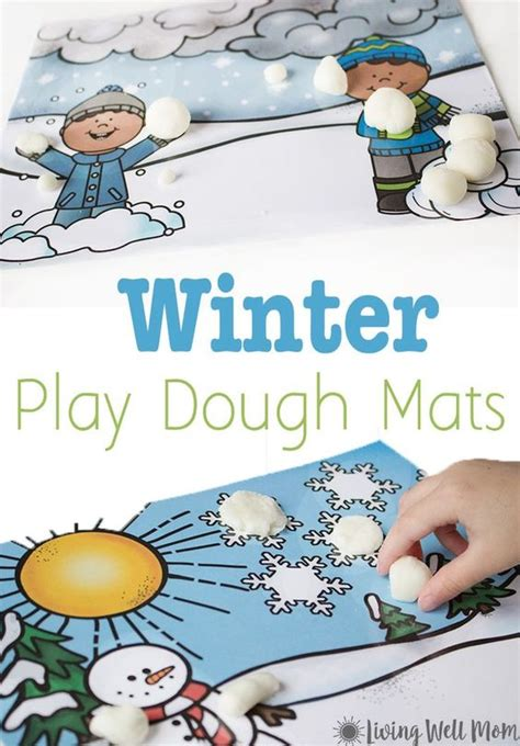 printable snowman playdough mats need a simple activity to keep the kids busy on a cold