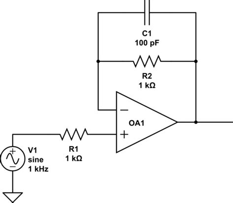 op capacitor feedback loop op parallel resistor and capacitor in non inverting voltage follower electrical