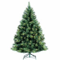 6ft pre lit needle pine artificial christmas tree pre