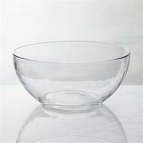 glass serving bowl crate  barrel