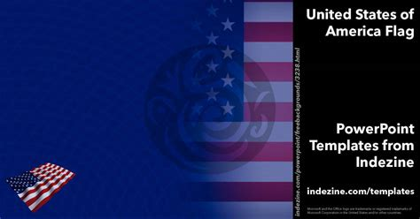 United States Of America Flag 15 Powerpoint Templates United States Powerpoint Template