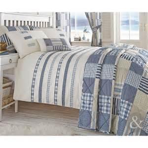 Coastal Duvet Covers Nautical Stripe Duvet Quilt Cover Cream Amp Blue Bedding
