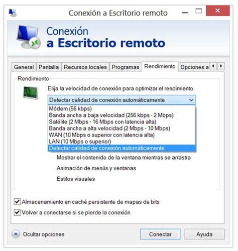 conexion a escritorio remoto redes conexi 243 n a escritorio remoto en windows