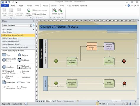 how to use ms visio 2010 bpmn diagramming basics course available visio insights