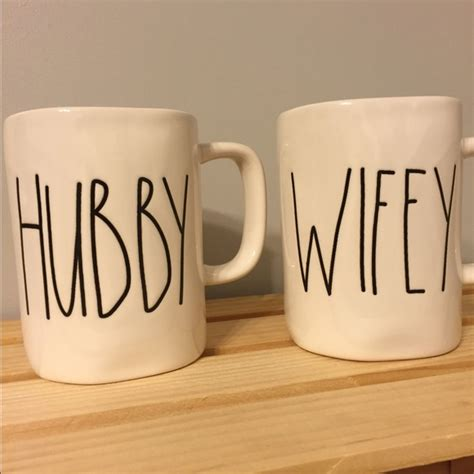 rae dunn mugs magenta rae dunn hubby wifey cups mugs os from stacey s