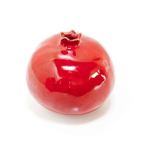 melograno in vaso melagrana di ceramica vaso scultura