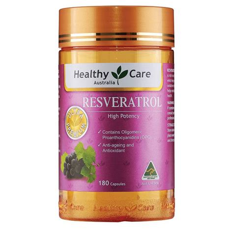 buy healthy care resveratrol 180 capsules at chemist warehouse 174