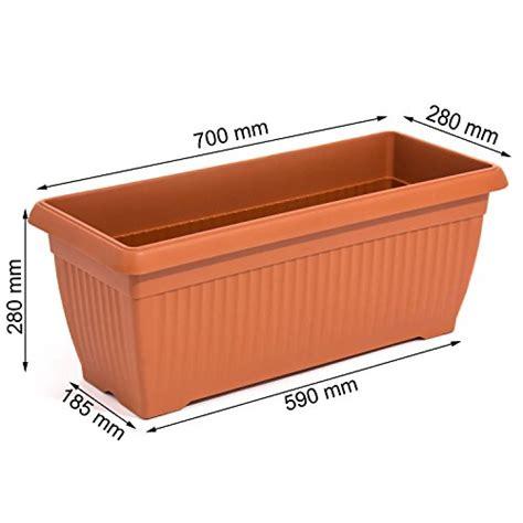 vaso terracotta rettangolare vaso fioriera rettangolare 70 x 28 cm 30lt colore