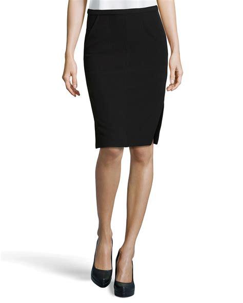 Side Slit Pencil Skirt heritage side slit pencil skirt in black lyst