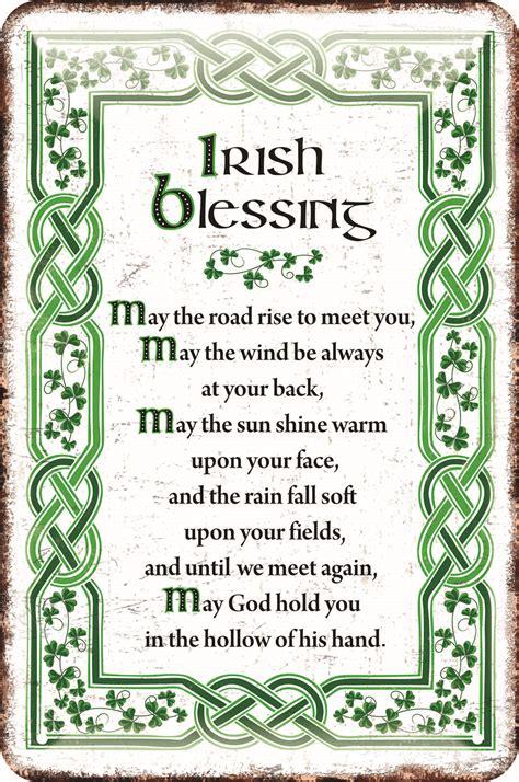 Decorative Stitch Irish Metal Sign Irish Blessing 5390711524830 Ebay