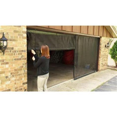 fresh air screens 9 ft x 8 ft 3 zipper garage door