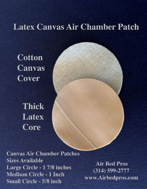 latex canvas patch  sleep number bed air chambers