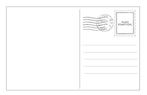 card template to send out musings of an average postcard templates
