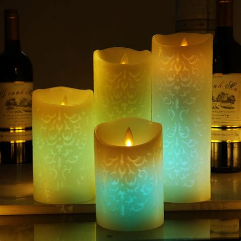 Colored Flameless Candles With Timer by Remote Flameless Candles Color Changing Led Candle