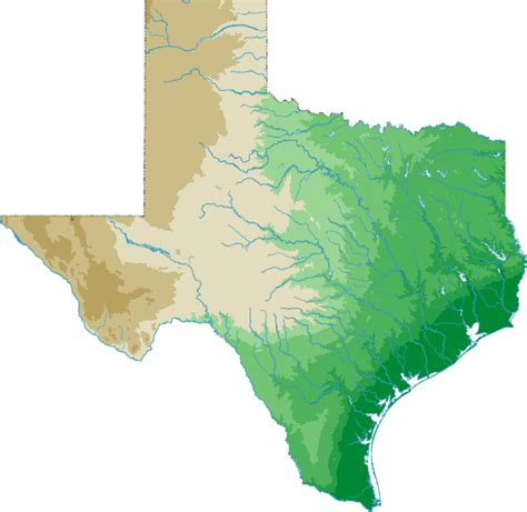 map of texas landforms texas landforms map my