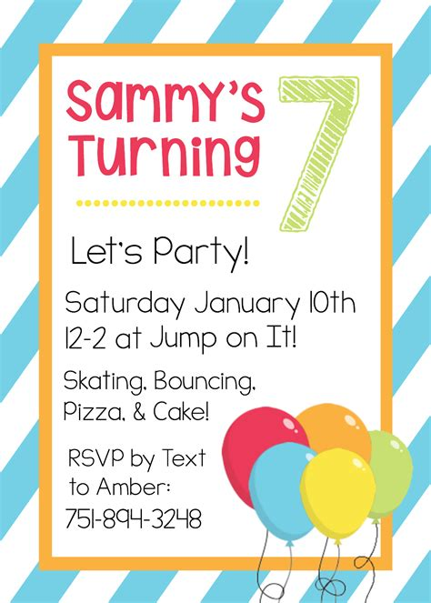 card birthday invitations for kid templated free printable birthday invitation templates