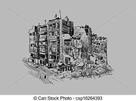 pencil drawings buildings building sketch stock photos eps vectors of destroyed building sketch of destroyed