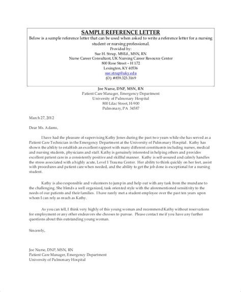 sample professional reference letter templates
