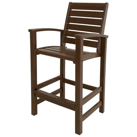 patio bar chair polywood signature mahogany patio bar chair 1912 ma the