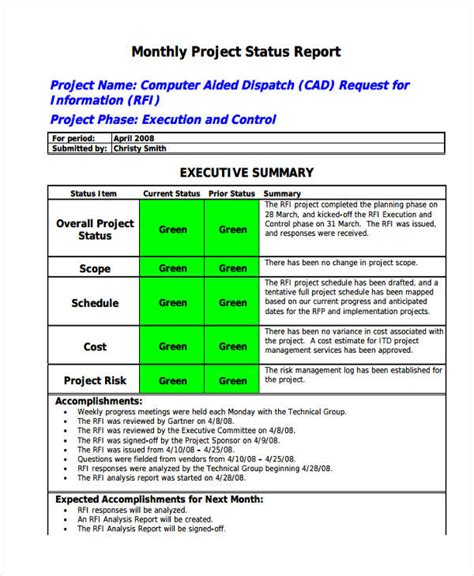 14 monthly report exles sles pdf word