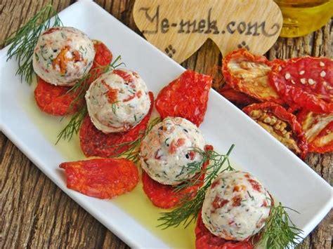 resimli yemek tarifleri tm yemek tarifleri kolay ve pratik resim kuru domatesli peynir topları tarifi resimli anlatım