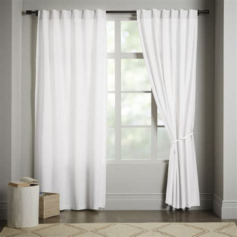 white light blocking curtains linen cotton curtain stone white west elm for beautiful