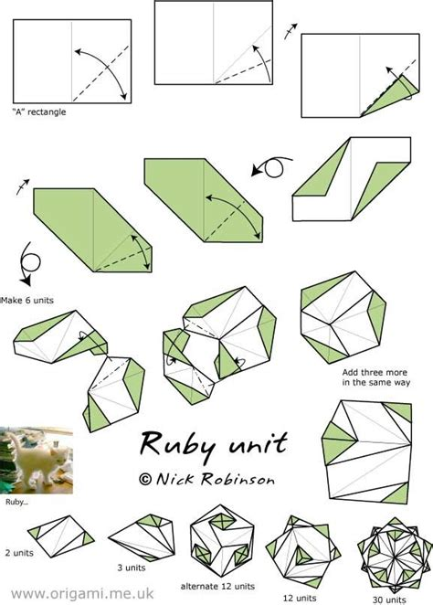 Origami With A4 Paper - a4 quot ruby unit quot by nick robinson origami kusudamas