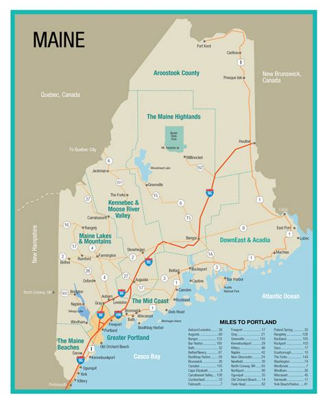 portland state map maine state map explore the greater portland area