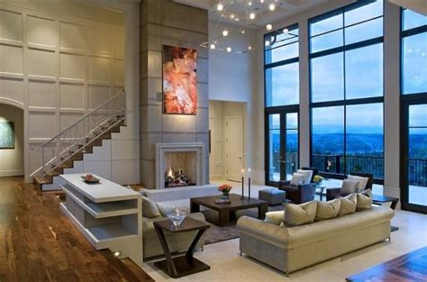prettiest living rooms  glass walls