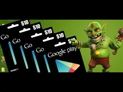 Clash Of Clans Google Play Gift Card - clash of clans giveaway 50 google play store gift card till 10 31 14 youtube