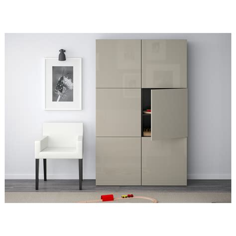 besta beige best 197 storage combination with doors black brown selsviken