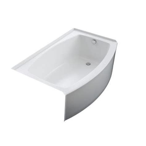 kohler bathtubs home depot kohler expanse 5 ft right hand drain acrylic bathtub in