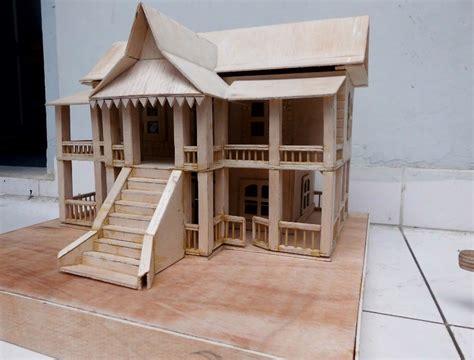koleksi keren mewarnai gambar sketsa miniatur rumah