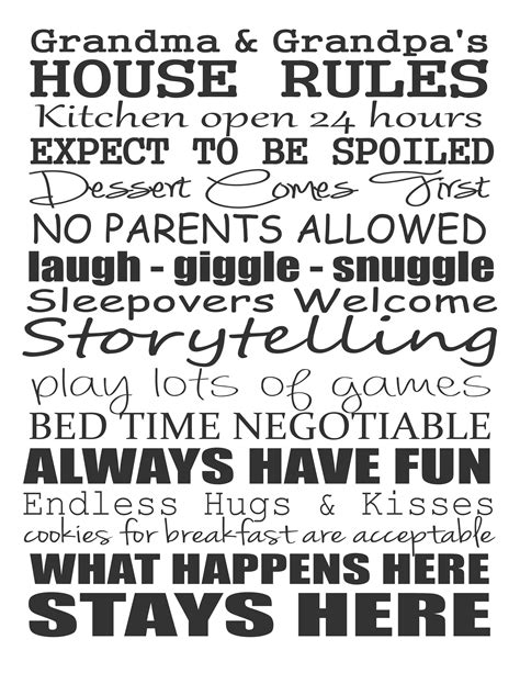 grandparents house rules grandparent love free printable stickelberry