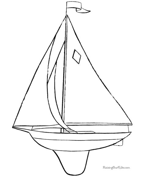 sailboat template for preschool ausmalbilder f 252 r kinder malvorlagen und malbuch boat