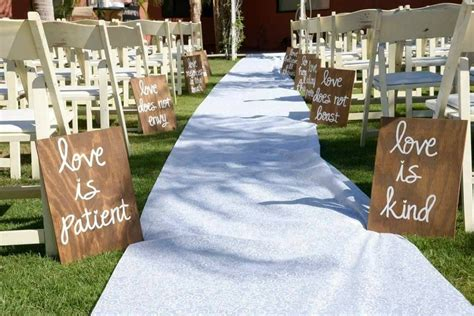 Wedding Aisle by Wedding Aisle Signs Set Of 10 Corinthians 13 Signs Is