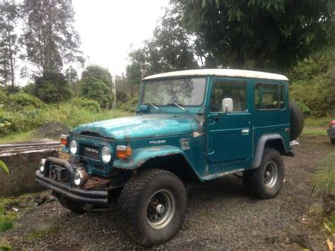 Big Island Toyota Used Cars Sell Used 71k 1980 Toyota Land Cruiser 4x4 4wd 4 Seat