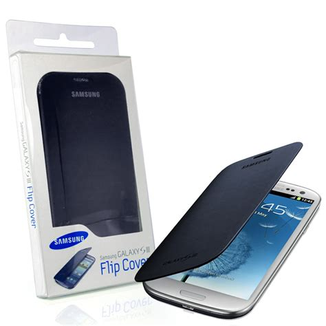 Galaxy 2 Flip Cover genuine samsung galaxy s3 i9300 flip cover chrome blue