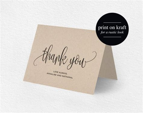 Wedding Thank You Place Card Template by Thank You Card Wedding Thank You Thank You Card Template