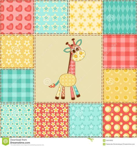 Patchwork Picture - giraffe patchwork pattern stock vector image of giraffe